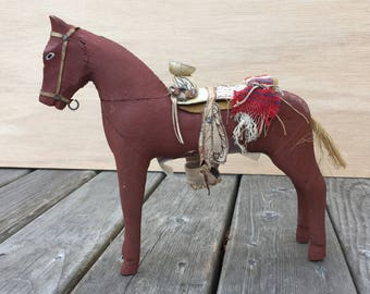 1951 Wooden Horse from Juarez, Mexico