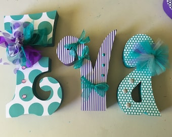 Custom wood letters. Nursery letters. Wedding letters. Bath letters. Bedroom letters. Baby shower letters. Home decor letters.