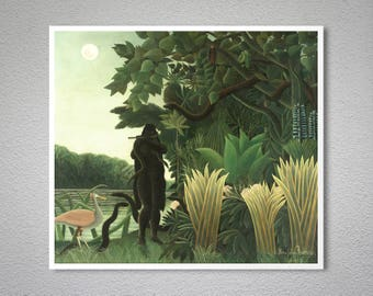 The Snake Charmer by Henry Rousseau Fine Art Print - Poster Paper, Sticker or Canvas Print / Gift Idea