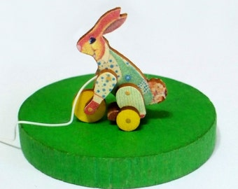 Reggie Rabbit Pull Toy Miniature KIT