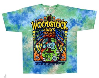 Woodstock Tie Dye Short Sleeve Shirt  Size  2XL    hippie  60s music  Music Festivals