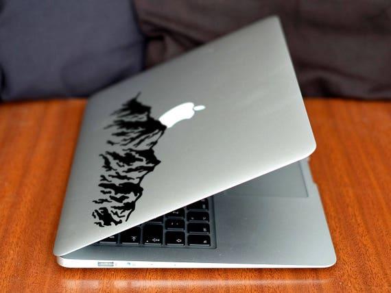 Mountain Decal Sticker, Mountains Hill Highlands Mount Everest Skin Laptop Vinyl decals, mac, Macbook Decal Sticker