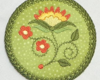 Jacobean-Floral-Ornament-Coasters-NLS  ( 10 Machine Embroidery Designs from ATW )