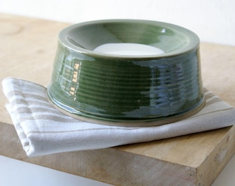 Made to order - Small handmade pet feeding bowl glazed in your choice of colour