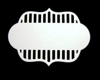 Non Sticking Ornate Paper Label Die Cut set of 25