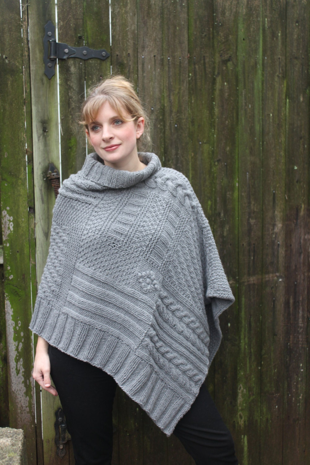 ReLuxe Wrap Pattern - knit wrap poncho shawl using chunky weight ...