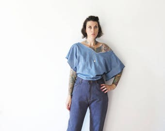 vintage 90s revived and dyed gray goddess lee high waisted mom jeans// 28w