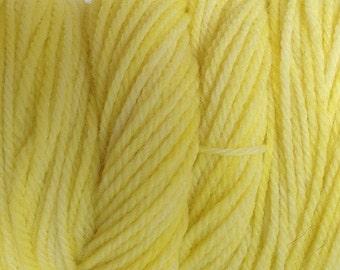 Tango Yellow Hand Dyed Merino Worsted Weight Wool Yarn