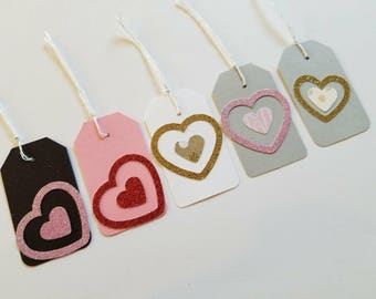 25 Heart Tags