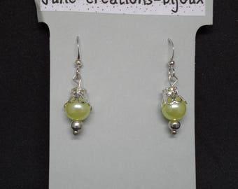 Pearl Earrings and bead caps