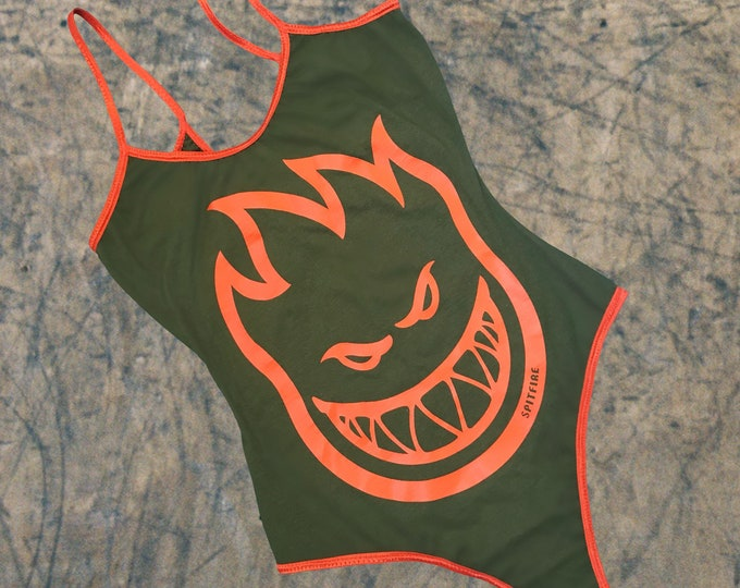 Spitfire Bodysuit (Green/Orange)