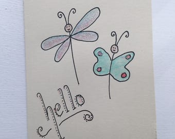 Dragonfly - Hello card