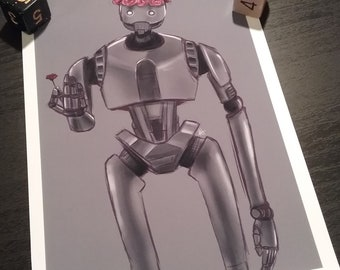 "Star Wars K-2S0 Convention Fanart Print | 4.5""x6.5"""