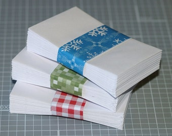 "Coin Envelopes (50) . White Mini Business Card Size 2.25"" x 3.5"" Gummed Flap Seller Supplies Seeds Cards Scrapbooking Small Envelopes"