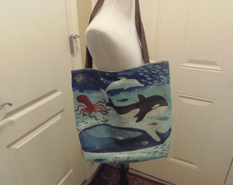 Lined Cotton Linen Tote