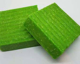 Green Tea Soap,  Scrub Soap, Green Soap, Exfoliating soap, Refreshing Soap, Sea Salt Soap, Spring Soap, Aromatherapy, Bath and Body Gift