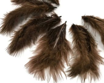 Down Feathers, 1 Pack - Brown Turkey Marabou Short Down Fluff Loose Feathers 0.10 oz. : 4291