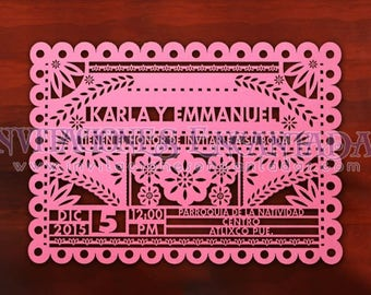 Mexican Style Wedding Invitation