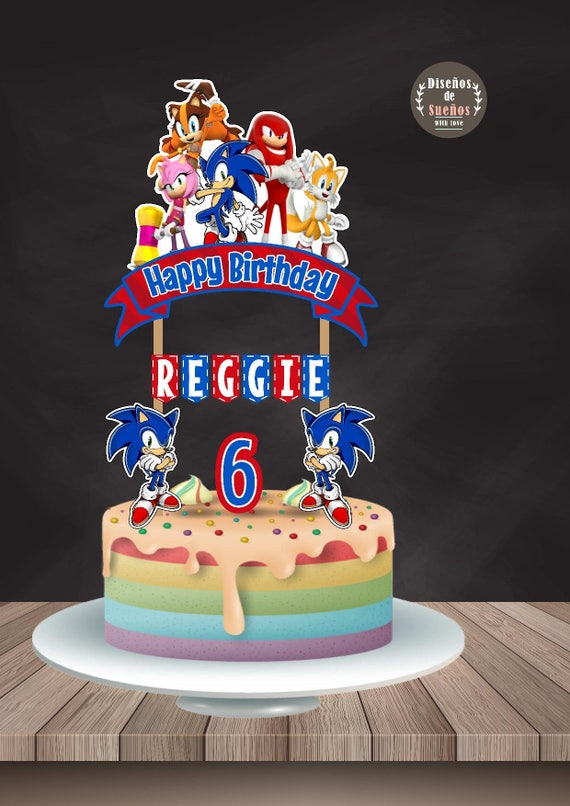 Sonic Cake Topper Sonic Birthday Sonic Party Custom And