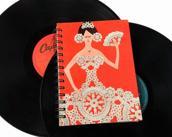 A Strauss Concert,  Up-cycled Vinyl Album cover Notebook