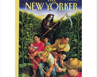 "Vintage The New Yorker Magazine Cover Poster Print Art, 1993 Matted to 11"" x 14"", Item 4040, El Salvador"