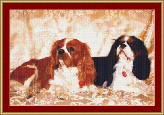 Cavaliers Cross Stitch Pattern /Digital PDF Files /Instant downloadable