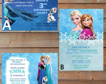 Frozen Themed Invitations - Personalized and Printable