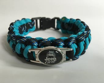 Jeep Paracord Bracelet, Jeep Girl Paracord Bracelet, Jeep Jewelry, Paracord Charm bracelet