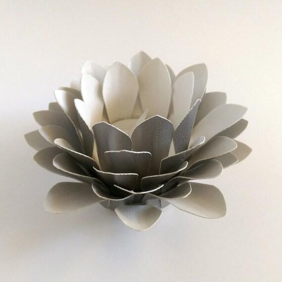 Paper Flower Decor Tealight holder Handmade Paper Lotus