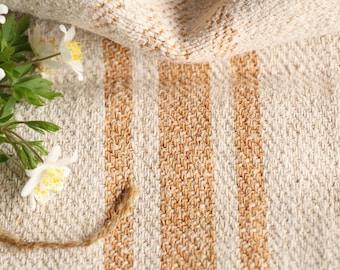 B 495 C antique grainsack CARAMELL, holiday feeling pillow cushion 40.16 long; 리넨;  french lin, vintage, wedding, monogramm, linne,