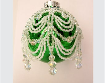 Cascading Sparkle Beaded Ornament Cover Instructions