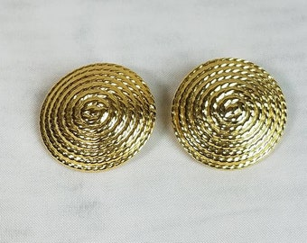 Gold Clip On Vintage Earrings