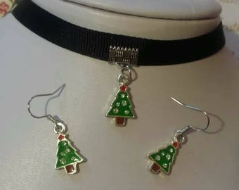 Christmas Earrings, Christmas Necklace, Christmas Jewelry, Choker