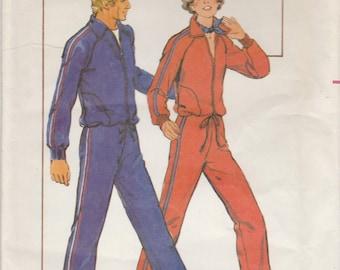 70s Warm Up Suit Pattern Butterick 5199 Size 12/14 Uncut