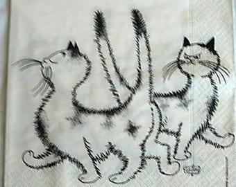 Family cats 5 napkin