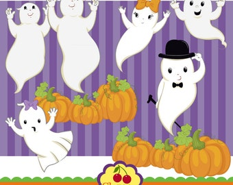 Halloween clipart ,Ghost clipart-Halloween Clip Art-Personal and Commercial Use