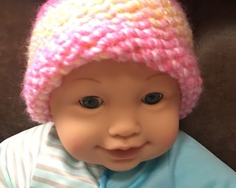Adorable knit baby hat