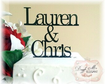 Name Cake Topper - Personalized Name Cake Topper - Custom Wedding Cake Topper - Mr and Mrs Last Name - Bride and Groom