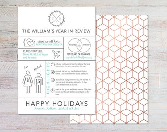 Year in Review / Holiday / Christmas Card / Modern / DIGITAL ONLY