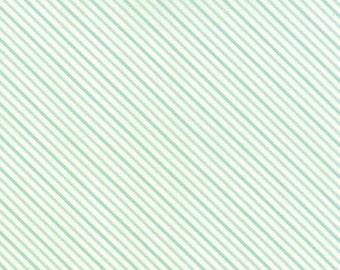 SALE Hello Darling aqua stripes by Bonnie and Camille for Moda