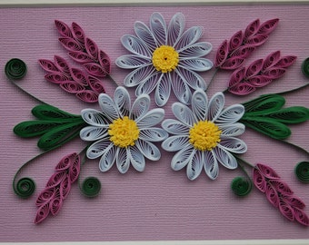 Lavender and daisies flowers picture