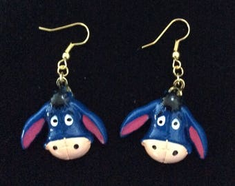 Eeyore donkey earrings, from Pooh Bear, Disney