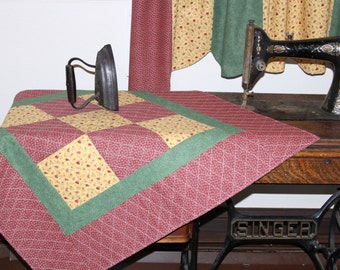 Quilted Calico Table Topper