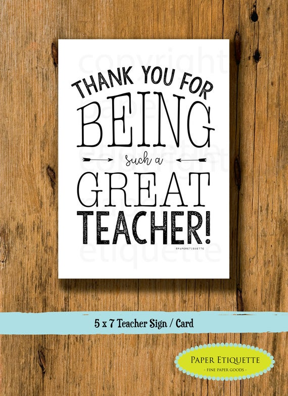 Thank You For Being A Great Teacher Teacher Holiday Gift