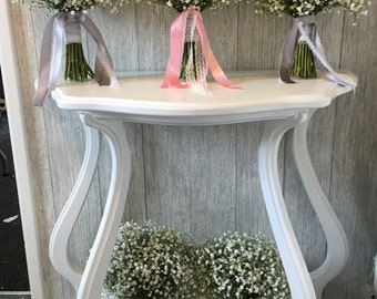 Fresh Baby Breath Bridesmaid Bouquet - With or Without Trailing Ribbons
