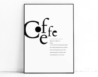 Coffee Poster Printable Wall Art, Coffee Poster Art, Kitchen Decor, Coffee Lover Poster, Funny Kitchen Art, Cute Office Decor, Nordic Print