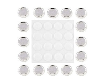 Blank Photo 8mm exterior  6mm interior Round Floating Charm