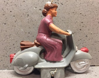 Very Rare Vintage Plastic Toy Vespa Scooter 1950's