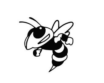 hornet mascot etsy rh etsy com Yellow Jacket Clip Art Cute Yellow Jacket Clip Art