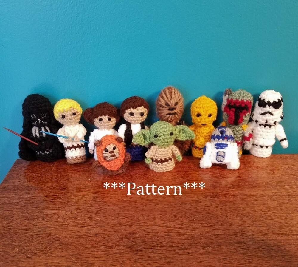 Star Wars ganchillo dedo títere patrones conjunto de 11, patrones de ...
